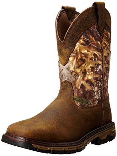 Ariat Men's Conquest Pull-on H2O Insulated Winter Boot, Ash Brown/Real Tree Extra, 13 D US