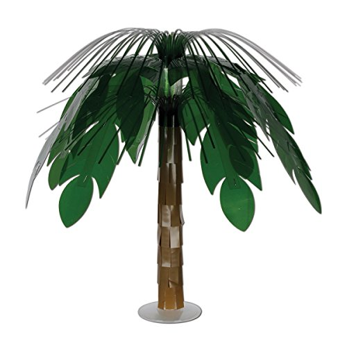 Pack of 6 Green and Brown Jungle Palm Cascade Table Centerpieces 18