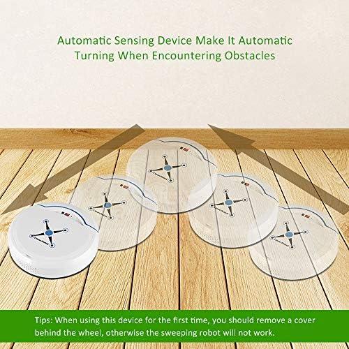 Zerodis Robot Aspirador, Limpiadores robóticos Limpiador USB Recargable Mini automático Smart Clean Robot Limpiador de Suelos Herramienta de Limpieza por aspiración(Blanco): Amazon.es: Hogar