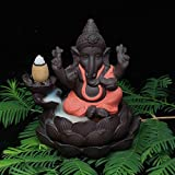 Wall of Dragon Ceramic backflow incense burner elephant god incense base home decor ganesha purple sand sandalwood figurines