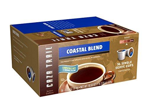 Caza Trail Coffee, Coastal Blend, 56 Single Serve Cups, 18.55 Oz