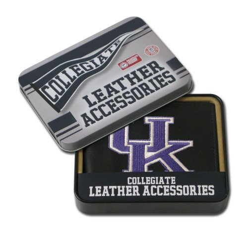 Leather Kentucky Wildcats Embroidered Wallet - 2