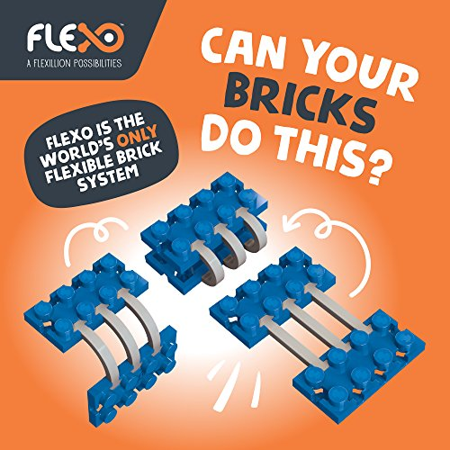 Flexo - Ensemble de briques de construction pour jouets avec blocs 3D flexibles - Apprentissage gratuit de la tige pour filles et garçons - Enfants de 6 ans et plus - Conception primée - Ensemble inventeur Couleurs neutres - Kit de construction 815 pièces