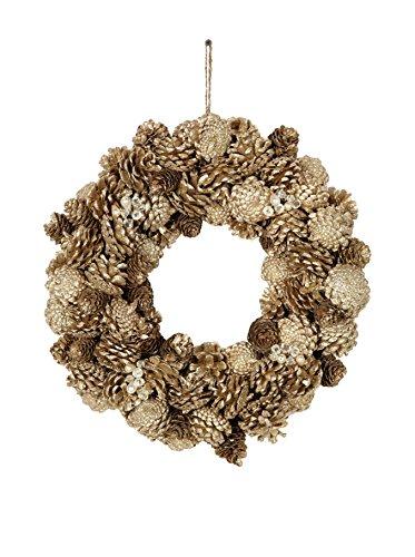 Sage Pinecone Jewel Glittered Wreath, Medium, Medium