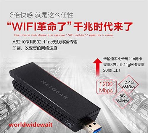 Tool Parts A6210 AC1200M WiFi USB 3.0 Dual Band USB Adapter 802.11ac Gigabit For Netgear
