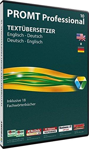 PROMT Professional 10 Englisch-Deutsch: Übersetzungssoftware für alle anspruchsvollen Anwender, die viel mit fremdsprachigen Dokumenten zu tun haben