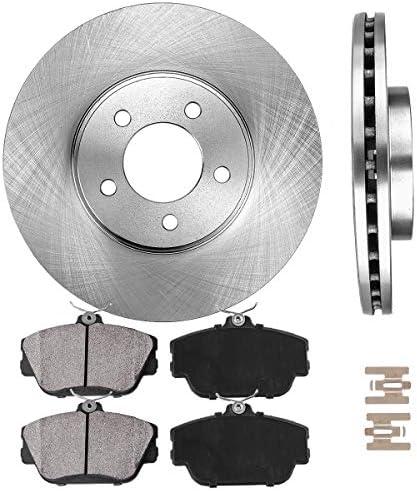 Front Brake Rotors /& Ceramic Brake Pads for 1996-2000 Ford Taurus Mercury Sable