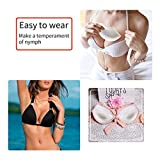 Strapless Bra Silicone Inserts Gel Invisible Breast Pads & Breast Push Up & Firming Bust Enhancers Padding for Women