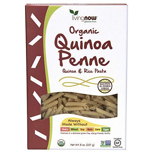 NOW Foods, Organic Quinoa Penne, Gluten-Free, Corn-Free, Non-GMO, Quinoa and Rice Pasta, 8-Ounce