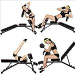XiYou-Panca-Regolabile-Palestra-Utilita-Pieghevole-Multiuso-per-Esercizi-Pieghevole-FitnessTavola-per-Sit-UpSit-Up-per-Esercizi-per-Tutto-Il-Corpo-Nero