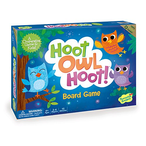 Peaceable Kingdom Hoot Owl Hoot - Cooperative Matching Game For Kids (Candyland The Kingdom Of Sweets Board Game)