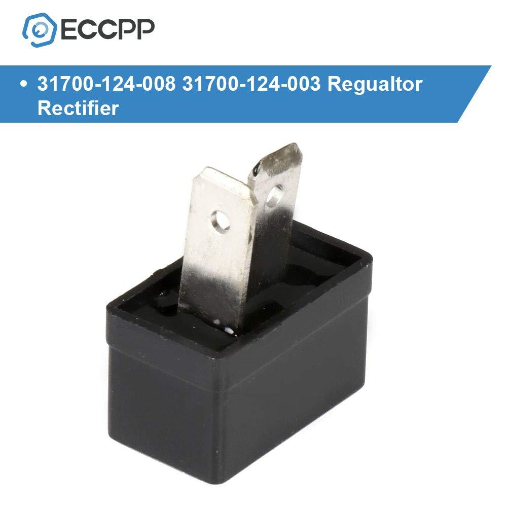 ECCPP Voltage Regulator Rectifier Fit for 1983-1984 Honda Ascot 500 1980-1983 Honda C70 1980-1982 Honda CB750C 1975-1982 Honda CB750F 31700-124-008 31700-124-003 Rectifier Regulator