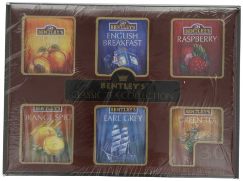 Bentley's Classic Tea Colletion, Assorted Pack, 30-Count Packages (Pack of 4)