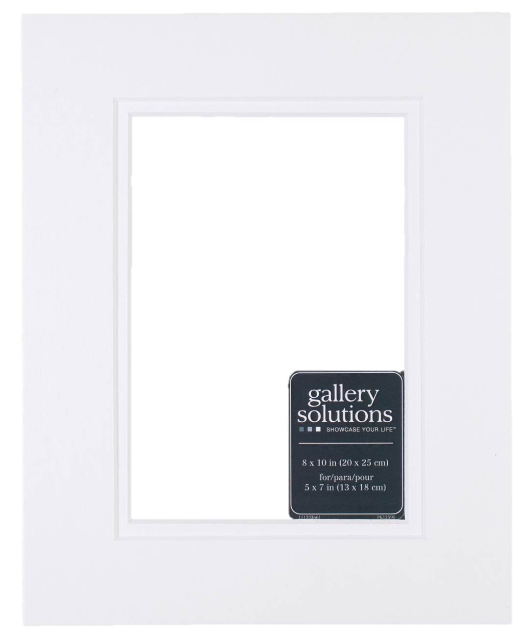 5 by 7-Inch to 3-1//2 by 5-Inch Gallery Solutions DM57WW White Double Mat