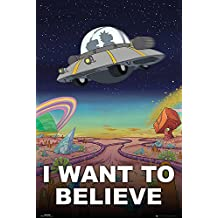 """Rick & Morty Poster - I Want To Believe (24""""x36"""")"""
