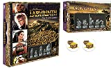 Labyrinth Board Game Plus Goblins Expansion and 2 Treasure Chest Buttons Bundle