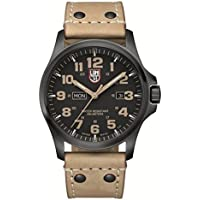 Luminox Atacama Field Day Black Carbon Fiber Dial Brown Leather Mens Watch