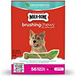 Milk-Bone Brushing Chews Fresh Breath Daily Dental Treats - Mini, 22-Ounce - 56 Bones