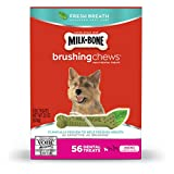 Milk-Bone Brushing Chews Fresh Breath Daily Dental Treats – Mini, 22-Ounce – 56 Bones