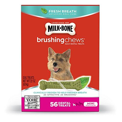 Milk-Bone Brushing Chews Fresh Breath Dog Treats Mini 22 oun