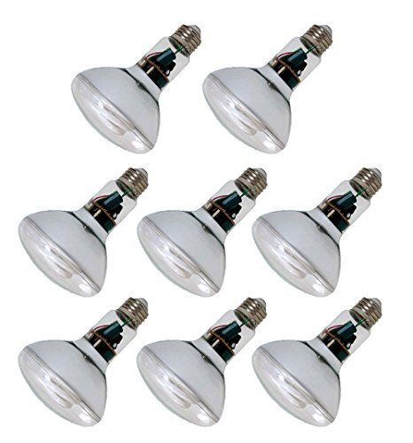 Pack of 8 GE 15W CFL Reveal Bulb Equivalent to 60W Color Enhanced Tone BR30 Flood Light
