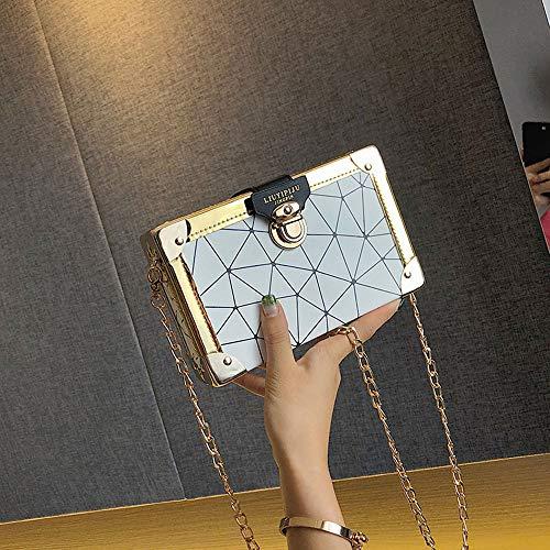 Femminile Bag Tracolla A Borsa Donna Tracolla Nuova YGMDSL Cross Blue Messenger Geometrica Chain Silver Bag Diagonale OqYgxwU
