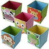 TE-Trend Faltbox Spielbox Tiermotiv Kuh Aufbewahrung Spielzeug Spielzimmer
