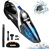 Handheld Vacuum Cleaner, WELIKERA Vacuum Cleaner Cordless 7000PA Powerful Suction Lightweight Wet/Dry Vacuum Cleaner Portable Household Vacuum Cleaner with Stainless Steel HEPA Suit for Home&Car