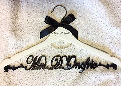 Amazon.com: Wedding hanger, Bride pearl hanger, bride hanger ...