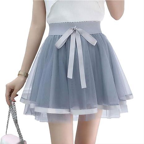 GDNTCJKY Faldas para Mujer Enagua Tutu Falda De Tul Vintage Mini ...
