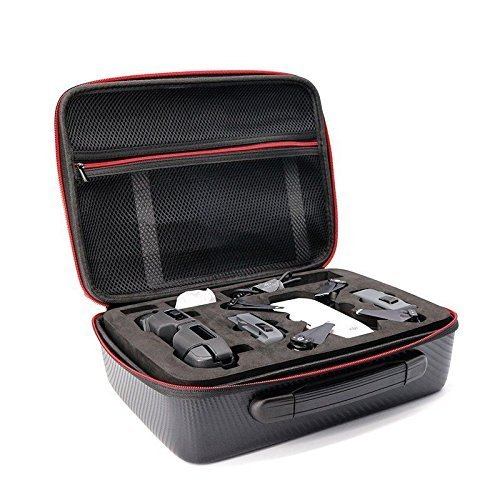 HobbyUnlimited PU Leather Case for DJI Spark and Transmitter Controller - Water-Proof and Impact Resistant