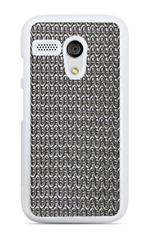 Chain Mail White Hardshell Case for Moto G1