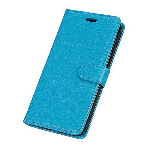SRY-Caso sencillo Para la galaxia J2 de Samsung encajona la caja, ranura para tarjeta pura de la cinta, hebilla magnética, función del soporte abierto plano el teléfono Shell Protección reforzada ( Co Blue