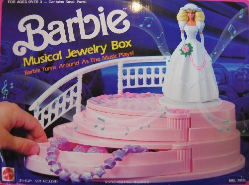 Barbie MUSICAL JEWELRY BOX - BARBIE Turns As MUSIC Plays! (1990 Arco Toys, Mattel) by Barbie