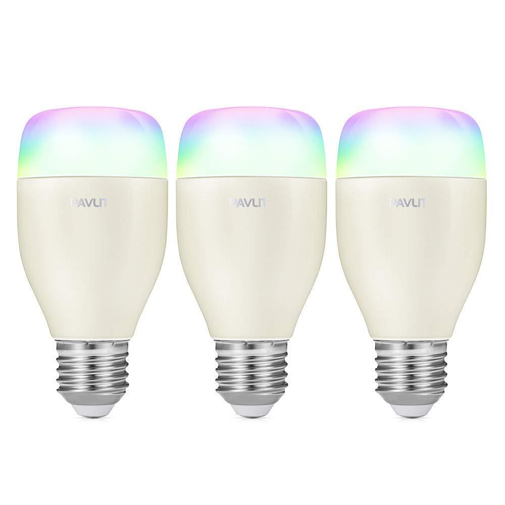 Smart LED Bulb Ampoule Wi-Fi Smartphone APP Ampoules LED multicolores contrô lé es, é quivalent E27 LED Dimmable 60W, Compatible avec Alexa et Google Home(Deux packs) équivalent E27 LED Dimmable 60W Pavlit