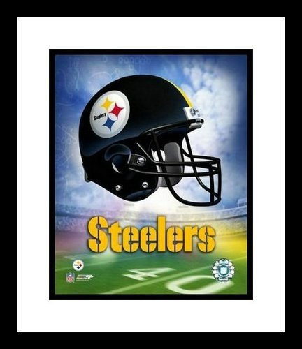 Pittsburgh Steelers Framed 8x10 Photo - Team Logo and Helmet Collage