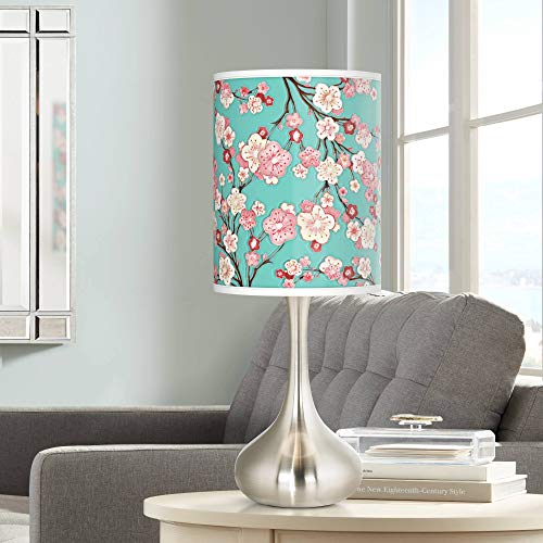 Cherry Blossoms Giclee Droplet Table Lamp - Giclee Glow
