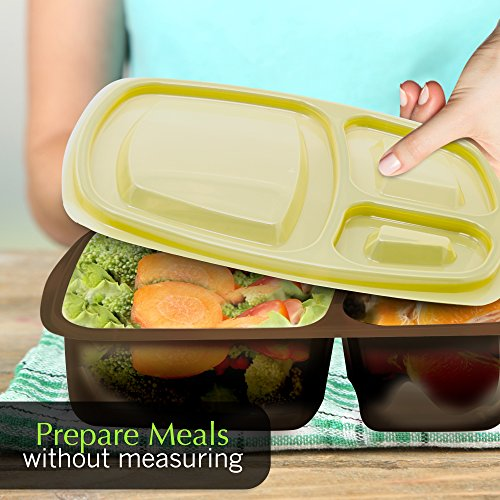 Portion perfect premium meal prep containers portion for Perfect kitchen sharjah