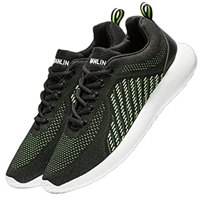 Amazon.com | VSDANLIN Men's Breathable Knit Running Shoes