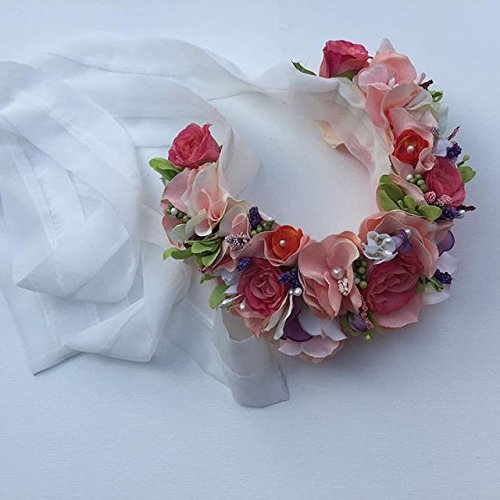 Luxurious handmade, one of a kind silk flower wreath by Twinkle California