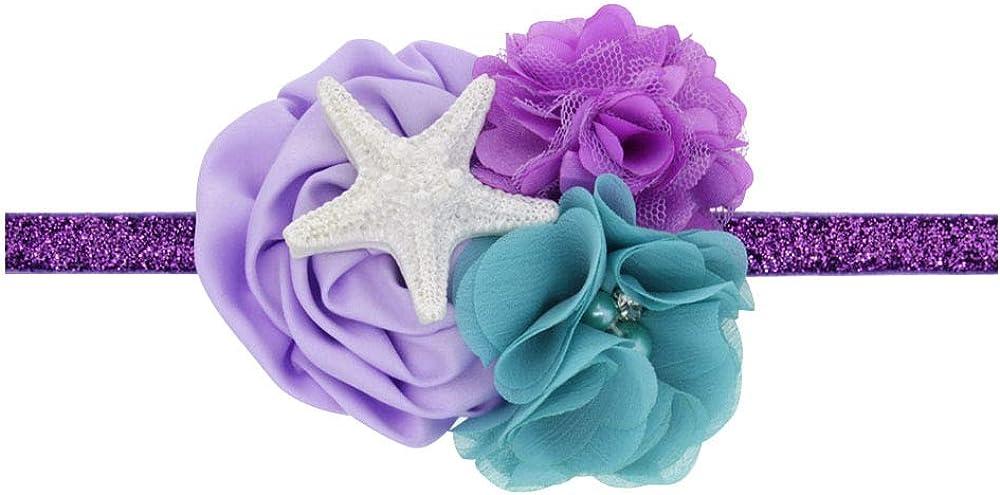 Love Fairy Baby Girls Lovely Starfish Elastic Hair Band Ocean Princess Mermaid Headdress