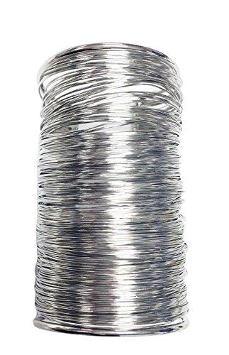 Wire wrapped statement cuff wide bracelet (SILVER) (Wire Bracelet Wrapped Silver)