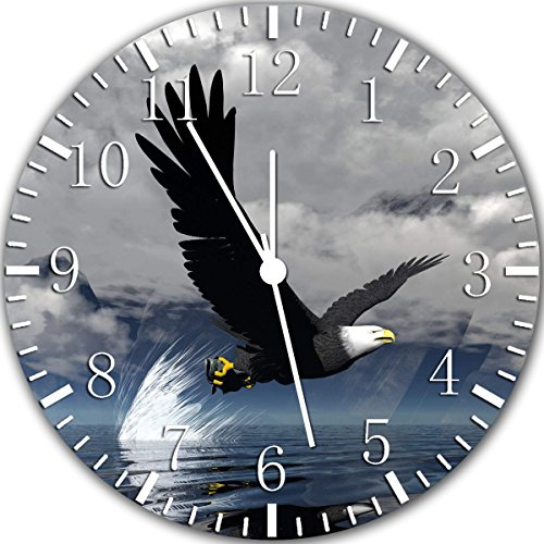 American Eagle Fishing Frameless Borderless Wall Clock, used for sale  Delivered anywhere in USA