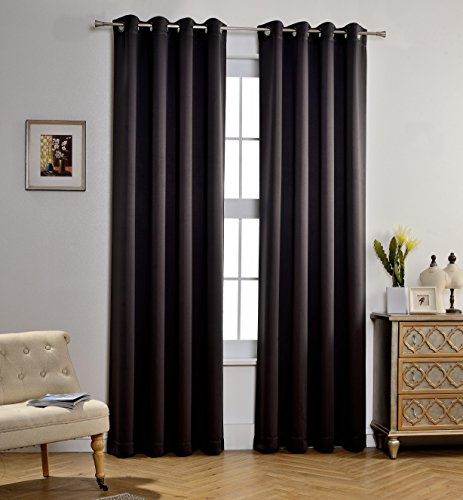Mysky home synchkg127239 mysky home solid grommet top for B q living room curtains