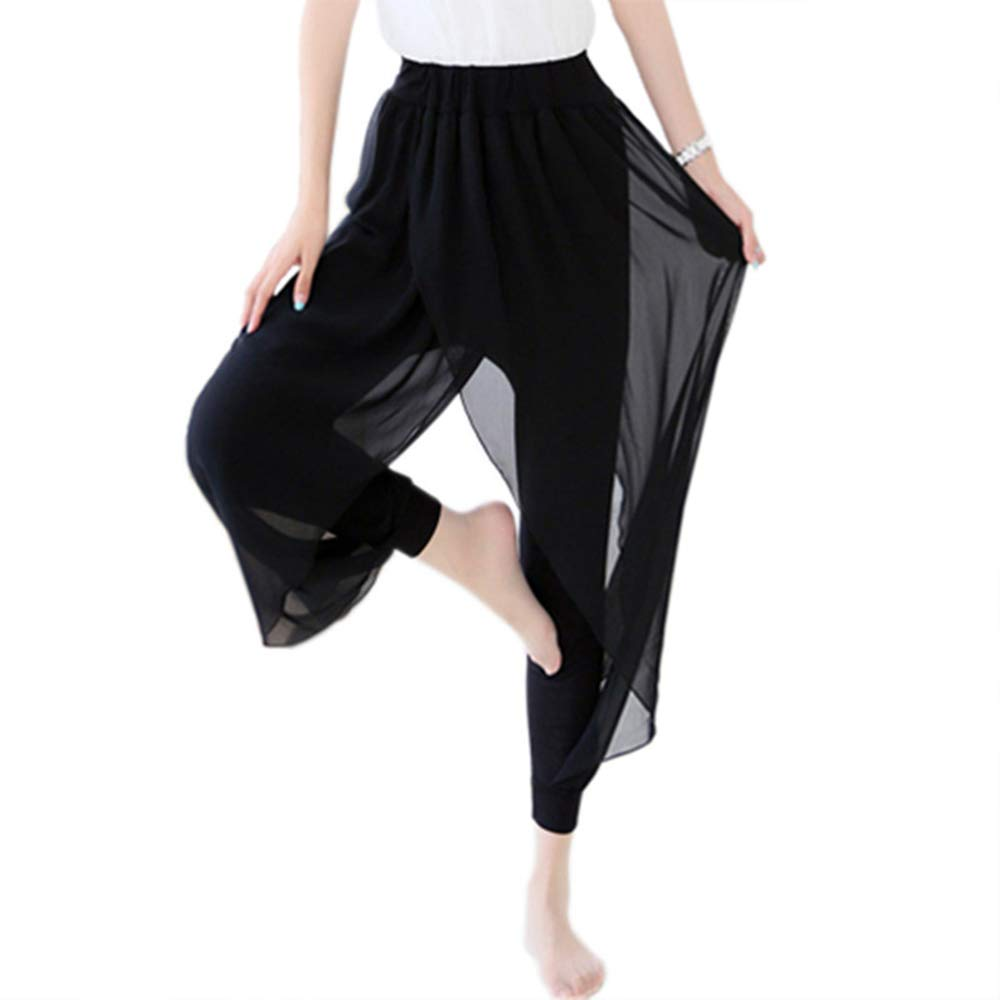 55f4d334d3ace Women Plus Size Chiffon Modal Elastic Culotte Long Legging Overlay Pants  Skirts at Amazon Women's Clothing store: