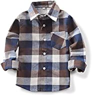 Toddler Baby Boy Girls Outfits Plaid Flannel Long Sleeve T-Shirt Tops Kid Clothes(4-5T)