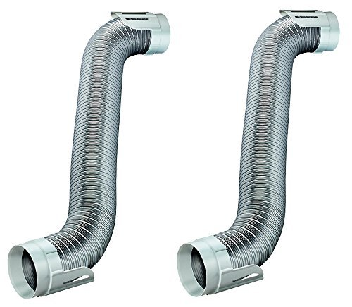 (Deflecto Easy Connecting Dryer Vent Hook Up Kit, Flexible Semi-Rigid Aluminum Duct, (HUPK8WA/4) (Pack of 2))