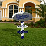 MLB L.A. Dodgers Wooden North Pole Sign - Royal Blue/White