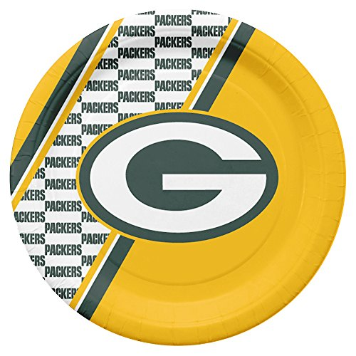 NFL Green Bay Packers Disposable Paper Plates, Pack of 20