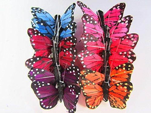 12pc 4D Monarch Butterfly 1.25
